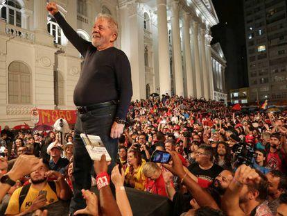 Lula, durante un acto en Curitiba, el pasado 28 de marzo.