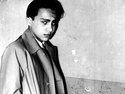 El joven judío Herschel Grynszpan, tras su detención.