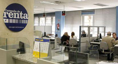 Oficina de la Agencia Tributaria en Madrid.