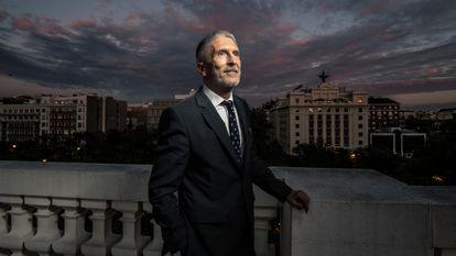 Dvd 1077 (21/10/21) Entrevista al ministro de Interior Fernando Grande-Marlaska, en la sede del ministerio en Madrid. FOTO: CARLOS ROSILLO.