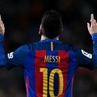 FILE: FC Barcelona announced Argentine player Lionel Messi will not continue with the club BARCELONA, SPAIN - DECEMBER 18: Lionel Messi of FC Barcelona celebrates after scoring his team's fourth goal during the La Liga match between FC Barcelona and RCD Espanyol at the Camp Nou stadium on December 18, 2016 in Barcelona, Spain. (Photo by David Ramos/Getty Images)