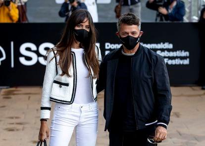 Rachel Valdés y Alejandro Sanz, en San Sebastián el pasado septiembre.