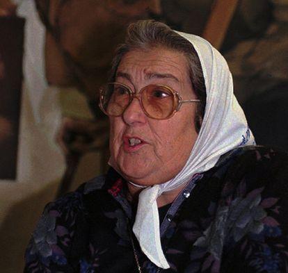 Hene de Bonafini, presidenta de la Asociación de Madres de la Plaza de Mayo