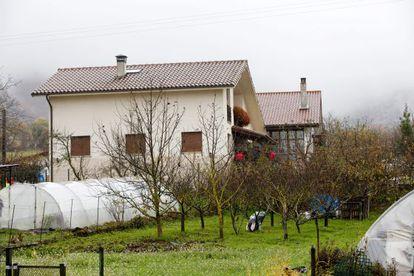 Vista de la casa en Araia en la que han sucedido los hechos.