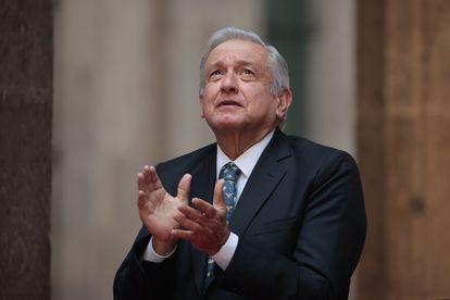 El presidente de México, Andrés Manuel López Obrador, en Palacio Nacional en mayo pasado.