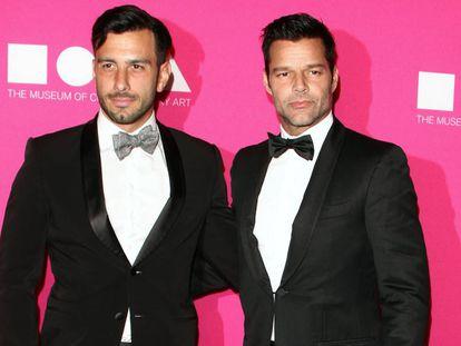 Ricky Martin, con Jwan Yosef.