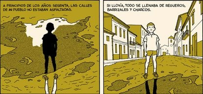 Viñetas de 'Ronson', de César Sebastián, editado por Autsaider.