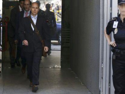El expresidente de Gowex Jenaro García a la salida de la Audiencia Nacional.