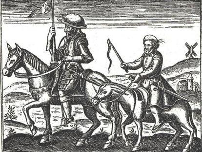 Una ilustración de El Quijote.