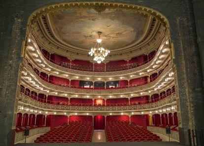 Interior del Teatro de la Comedia después de la rehabilitación.