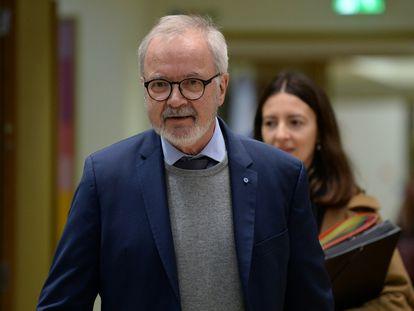Werner Hoyer, presidente del BEI, en enero.