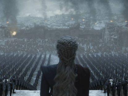 Fotograma del último capítulo de 'Juego de tronos'.