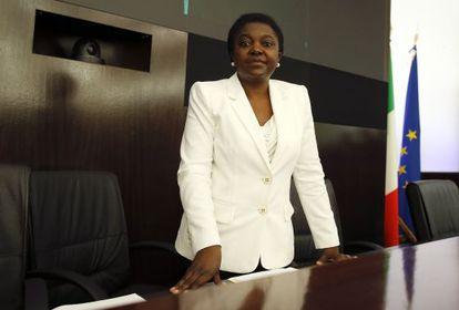 La ministra de integración italiana, Cécile Kyenge