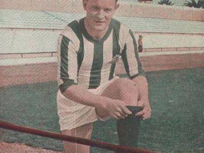 Törbjorn Jonsson, con la equipación del Betis.