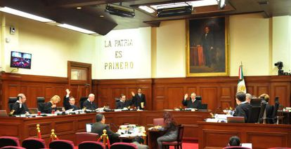 La Suprema Corte, en una sesión de inicios de octubre.