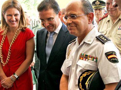Paula Sánchez de León, Serafín Castellano y José Manuel Salgado.