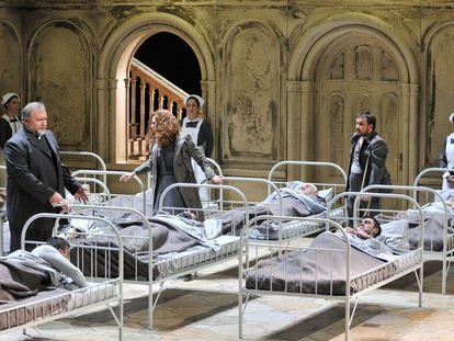 Ensayo de la ópera 'Parsifal', en el Teatro Real.