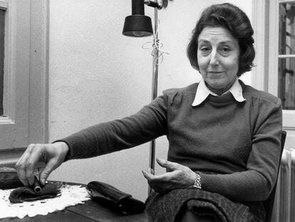 La poeta y artista Felícia Fuster, en una imagen de 1985.