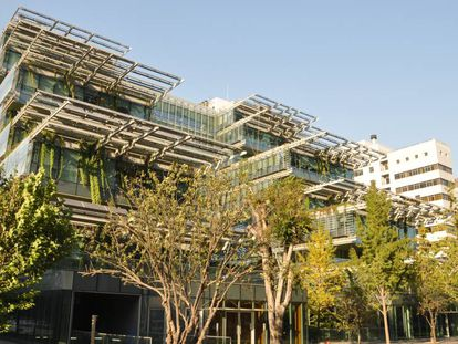 Edificio ecológico en la Universidad de Tsinghua, Beijing.