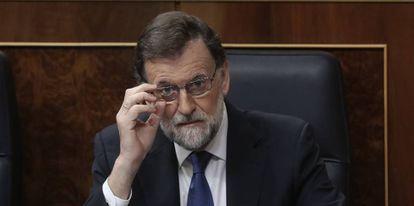 El presidente del Gobierno, Mariano Rajoy, el pasado miércoles en el Congreso.