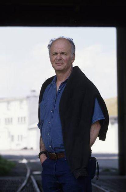 El escritor Stephen Dixon, en mayo de 2017 en Saint Malo (Francia).
