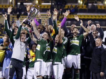 Los Portland Timbers celebran el título de liga el pasado diciembre.