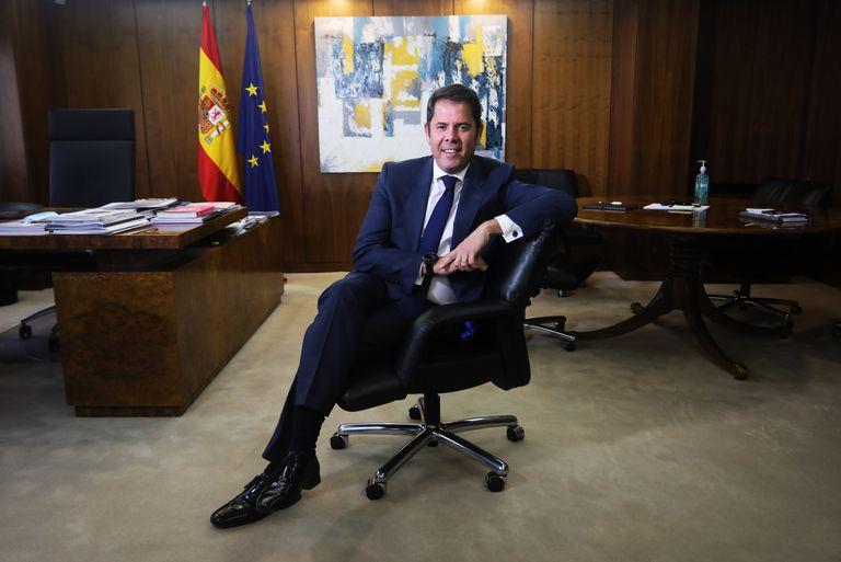 Gerardo Cuerva, actual Presidente de la patronal Cepyme, en su sede en Madrid.