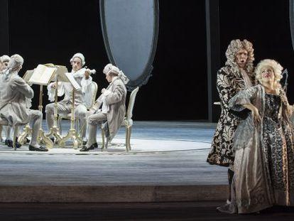 Stephen Milling y María José Siri en el ensayo general de 'Manon Lescaut', de Puccini, en el Palau de Les Arts.