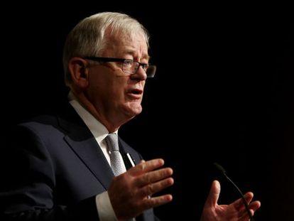 El ministro de Comercio e Inversión de Australia, Andrew Robb, durante la inauguración de la cumbre del G-20 celebrada en Sidney