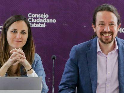 Ione Belarra y Pablo Iglesias, en una imagen de archivo.