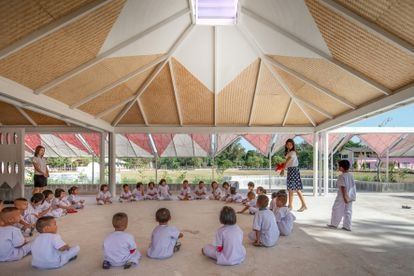 Aula principal de la Bang Nong Saeng Kindergarten. |
