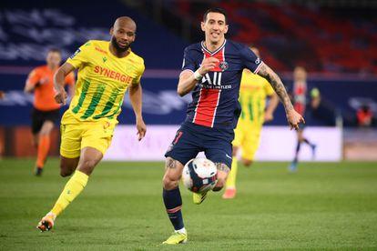 Angel Di María, en partido frente al Nantes