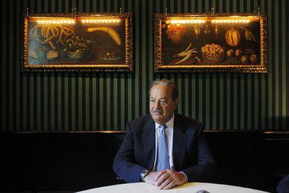 Carlos Slim, empresario mexicano fundador del grupo Carso y segundo hombre más rico del mundo, en entrevista en 2008.