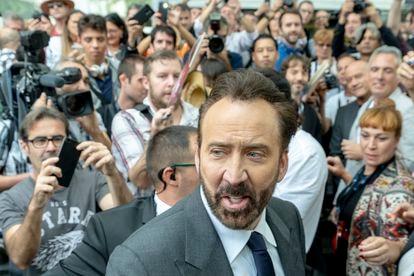 Nicolas Cage, rodeado de fans en el Festival de Sitges Film Festival en 2018.