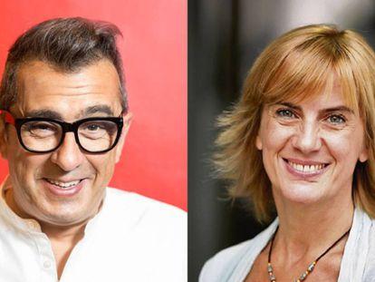 Los periodistas Andreu Buenafuente y Gemma Nierga.