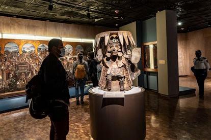 Una de las piezas de la exposición 'La Grandeza de México' en el Museo de Antropología de la Ciudad de México.