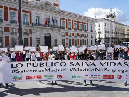 Oposición, asociaciones vecinales y sindicatos piden en Madrid el estado de alarma