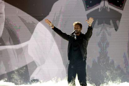 El español Pablo Alborán, en los premios Billboard de la Música Latina el miércoles.