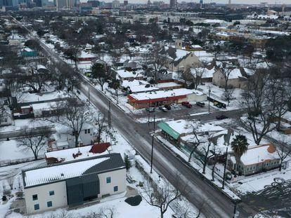 Una vista aérea de un barrio de Austin (Texas), este miércoles.