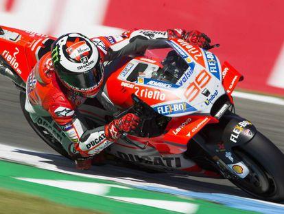 Jorge Lorenzo, en el circuito de Assen.