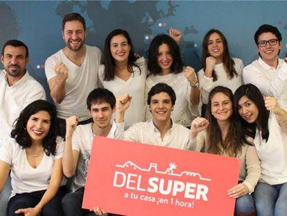 El equipo de Delsúper, la empresa creadora de la plataforma Súper Tecnologies.