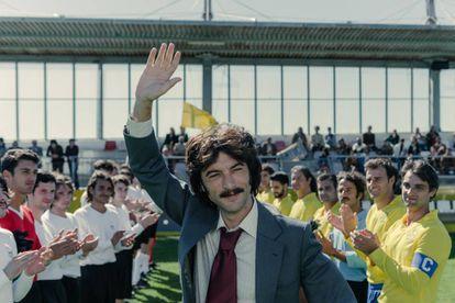 Javier Rey, como Sito Miñanco, en el cuarto episodio de 'Fariña'.