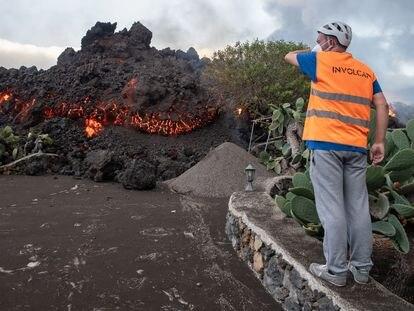 Colada de lava en Toquedo, La Palma.