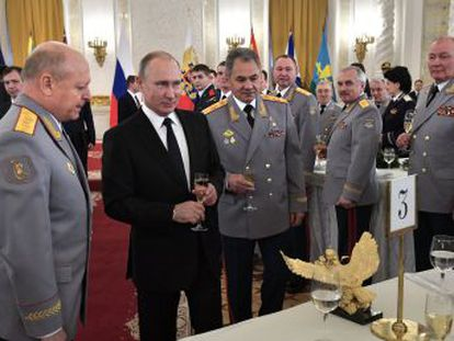El presidente Putin asegura que el Ejército ruso ha aniquilado a más de 60.000 yihadistas
