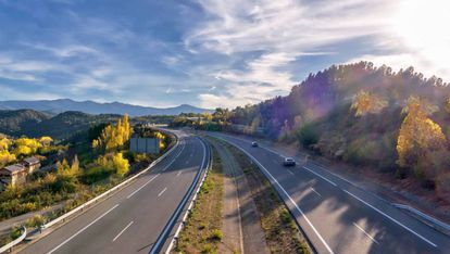 Autovía A-6 que une la capital de España con Galicia.