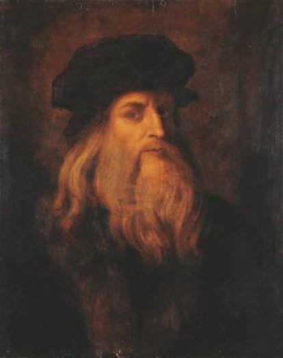 Retrato de Leonardo del siglo XVII en la Gallerie degli Uffizi.