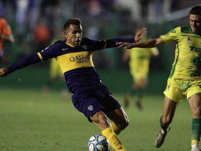 Carlos Tévez, ante Defensa y Justicia. En vídeo, el polémico anuncio de Boca Juniors.