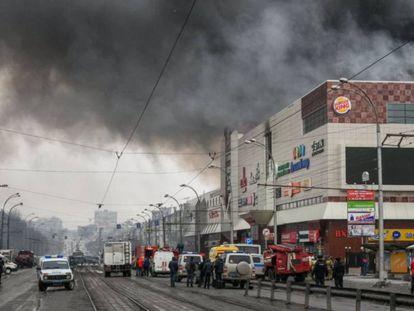 Vista de la ciudad de Kémerovo.