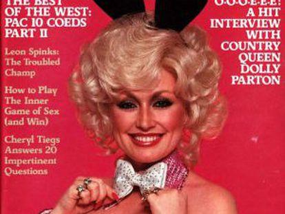 Dolly Parton en la portada de 'Playboy'.