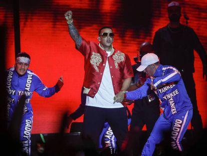 El reguetonero puertorriqueño Daddy Yankee en el concierto de este domingo en el WiZink.